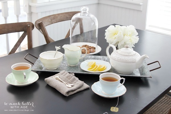 Styling Trays & A Giveaway / Tea party - So Much Better With Age