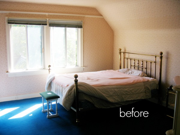 Our old old house, 90-year-old Tudor house tour / before picture of spare bedroom - So Much Better With Age