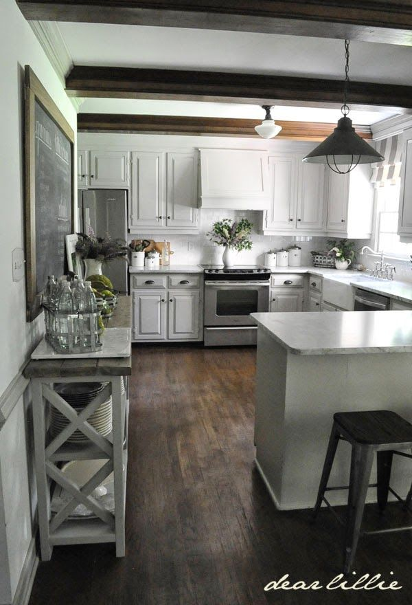 Faux Beam Over Kitchen Bulkhead - Wood Beam Inspiration ...