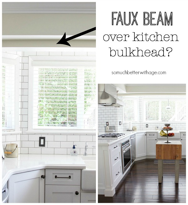 Faux Beam Over Kitchen Bulkhead French Inspirtation So Much Better With Age