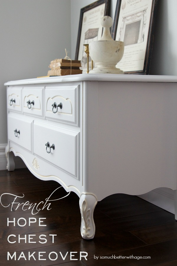 French Hope Chest Makeover White So Much Better With Age