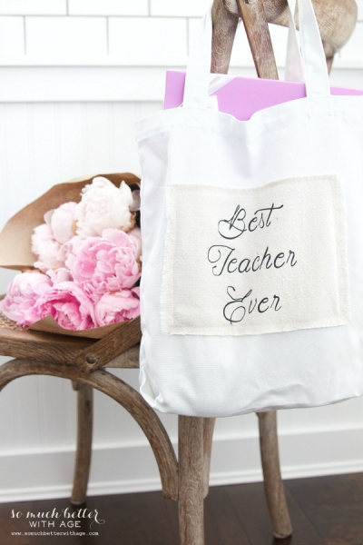 DIY Teacher Gift – Best Teacher Ever Tote