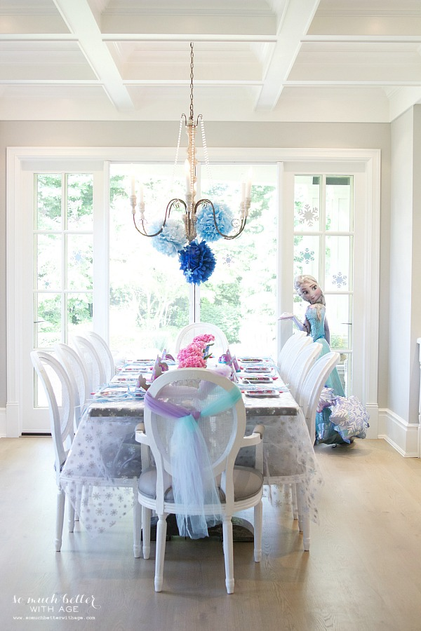 Elegant Frozen Birthday Party / table setting - So Much Better With Age