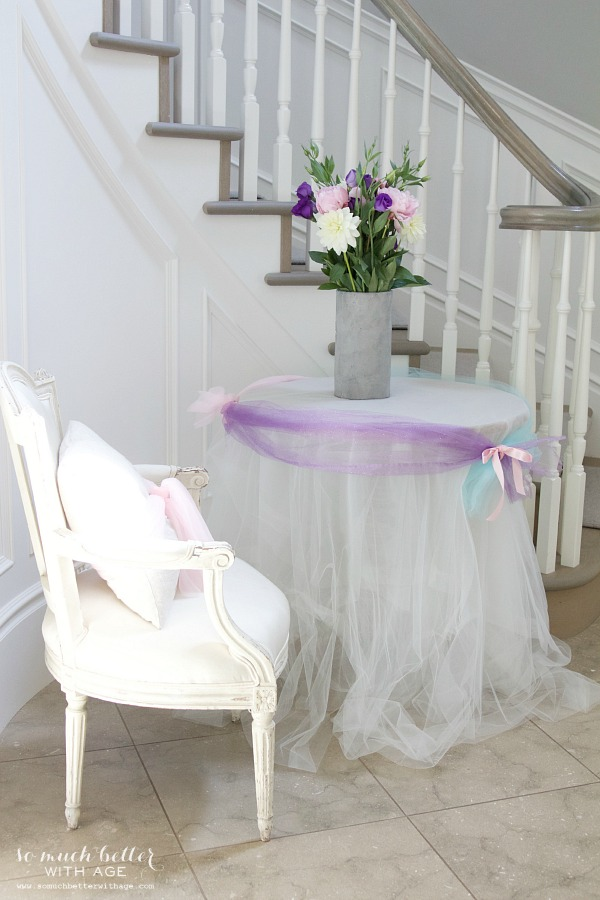 Elegant Frozen Birthday Party / decorated side table - So Much Better With Age