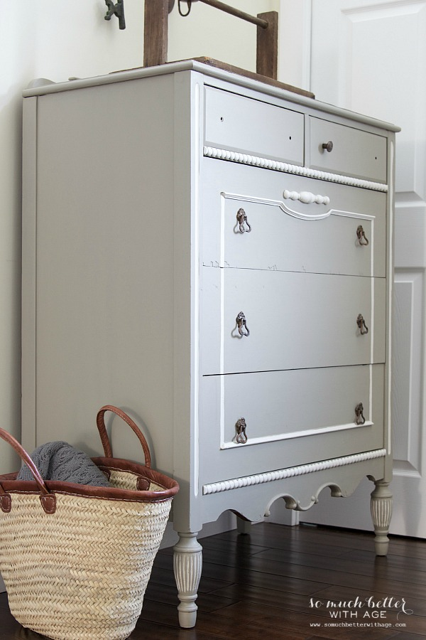 Ugly bird dresser to beautiful French dresser / after picture in room - So Much Better With Age