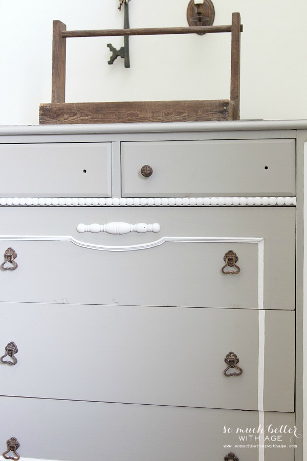 Ugly bird dresser to beautiful French dresser / missing knobs - So Much Better With Age