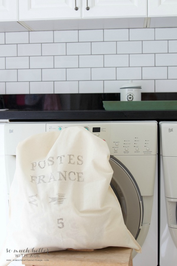 French laundry bag | somuchbetterwithage.com