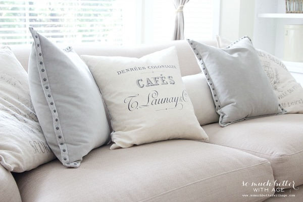 French neutral pillow | somuchbetterwithage.com