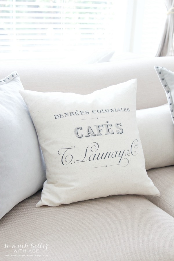 New French pillow | somuchbetterwithage.com