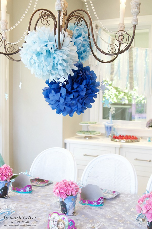 Elegant Frozen Birthday Party - So Much Better With Age