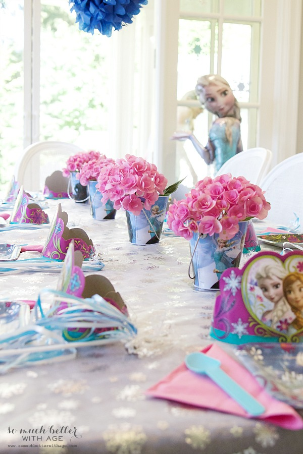 Elegant Frozen Birthday Party / frozen Elsa details - So Much Better With Age
