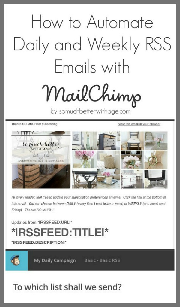 How to Automate Daily and Weekly RSS Emails with MailChimp | So Much ...