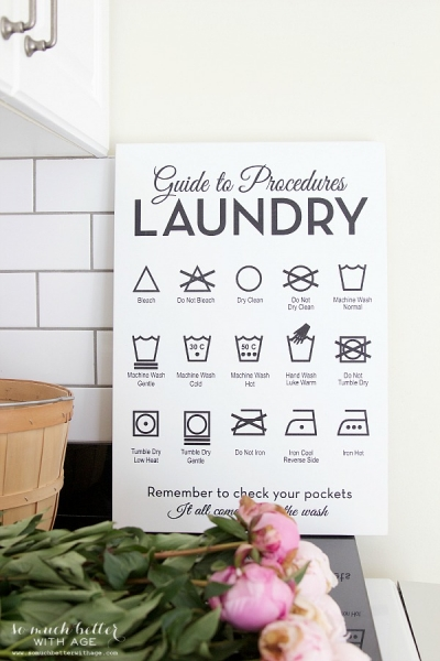 Beautiful Wooden Laundry Guide Artwork + Giveaway