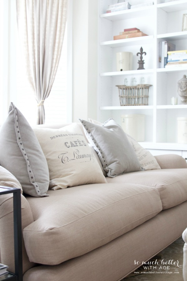 Neutral living room / new French Pillow