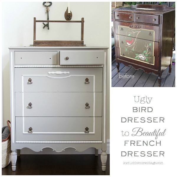 Ugly Bird Dresser to Beautiful French Dresser / So Much Better With Age