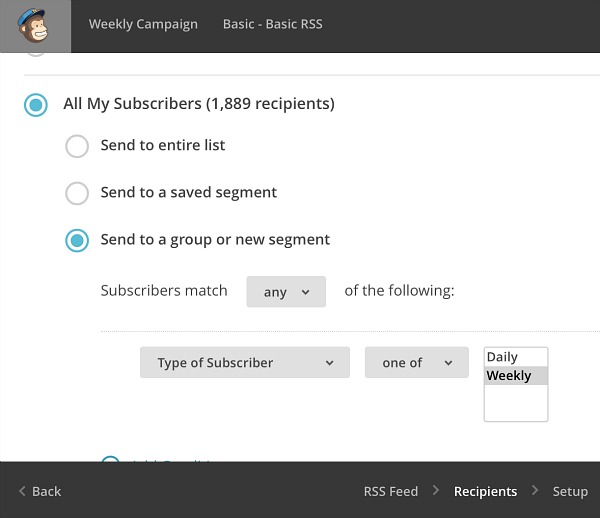 How to Automate Daily and Weekly RSS Emails with Mailchimp