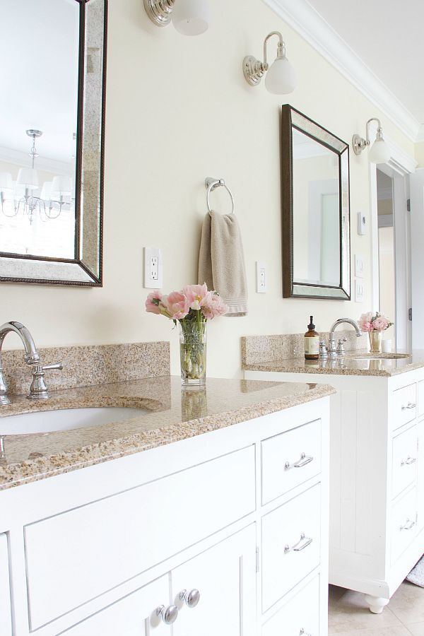 Light And Dark Contrast / bathroom vanities - So Much Better With Age