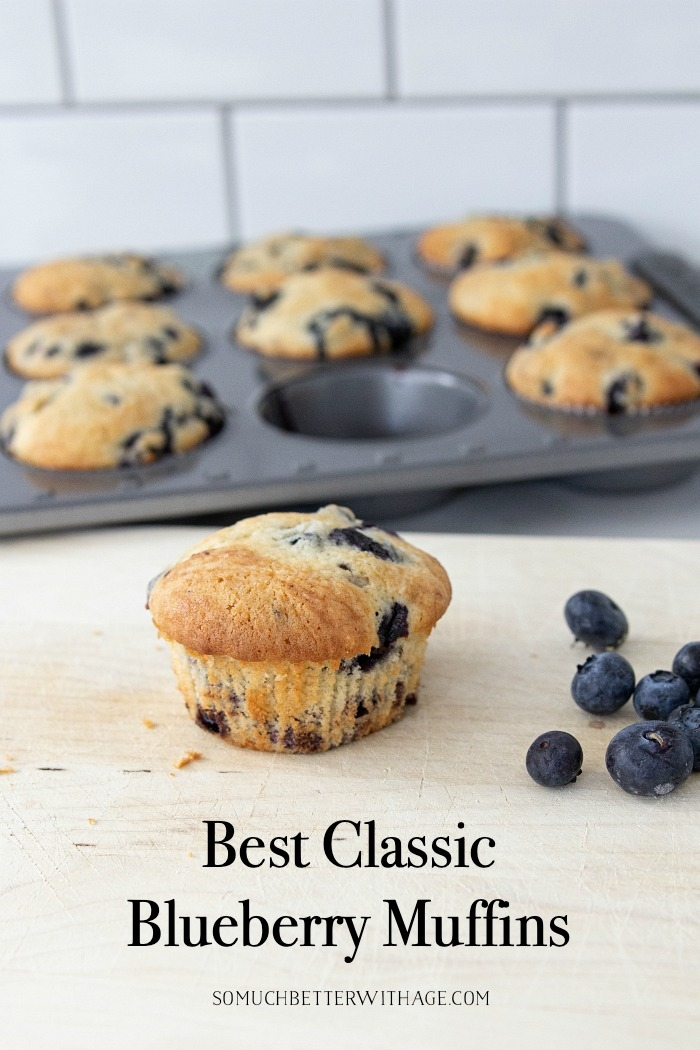 Best Classic Blueberry Muffins.