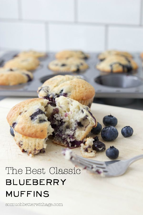 The Best Classic Blueberry Muffins - So Much Better With Age