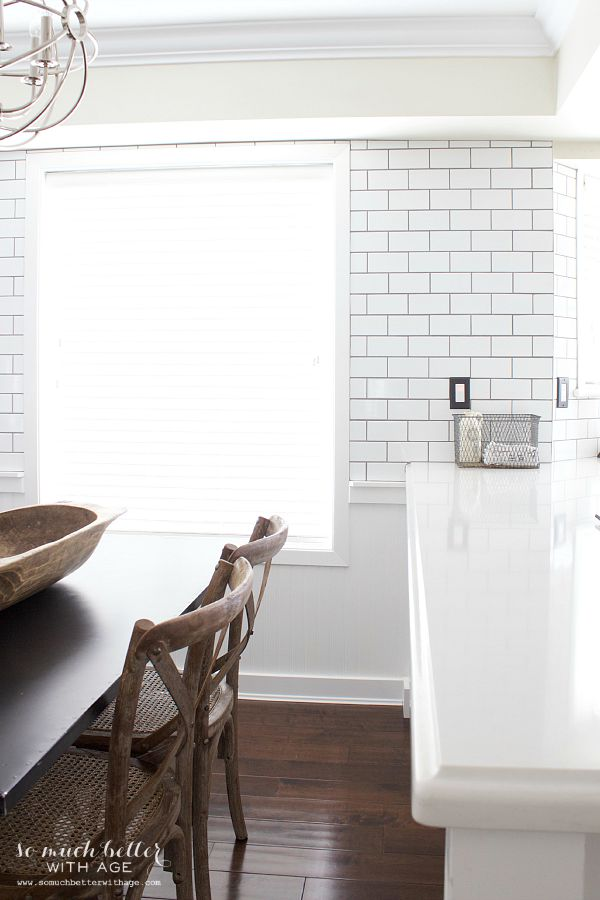 Light And Dark Contrast. / Subway tile - So Much Better With Age