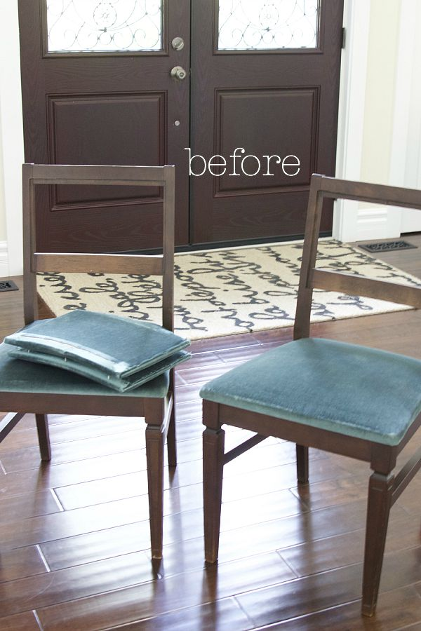 Before / Toile chair makeover | somuchbetterwithage.com