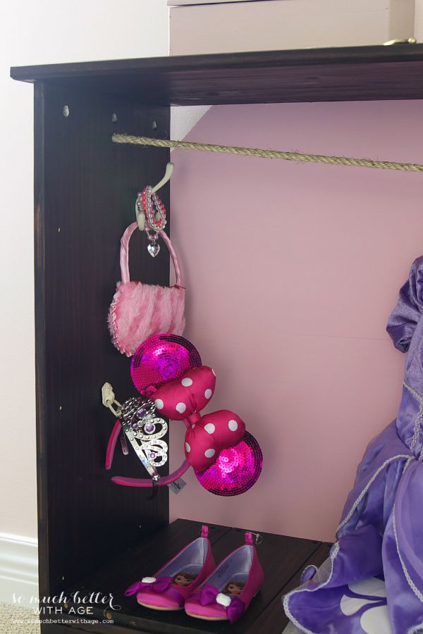 Dress Up Wardrobe / items on hooks - So Much Better With Age