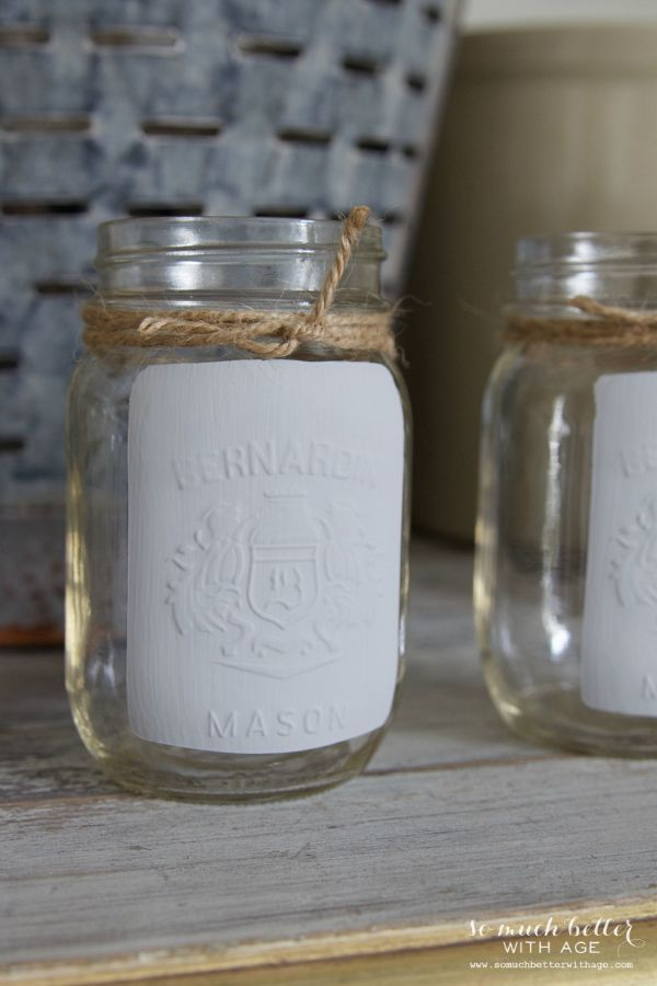 Easiest painted French mason jar / using Silhouette Cameo machine and chalk paint - So Much Better With Age