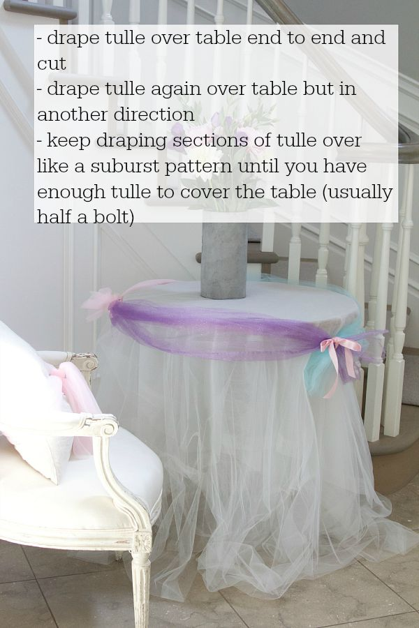 Frozen DIY photo backdrop / pretty tulle - So Much Better With Age