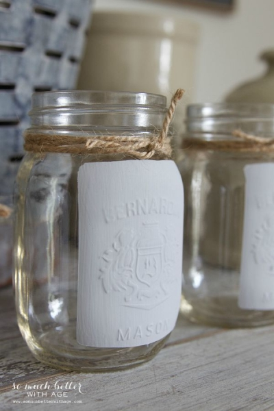Easiest Painted {French} Mason Jar