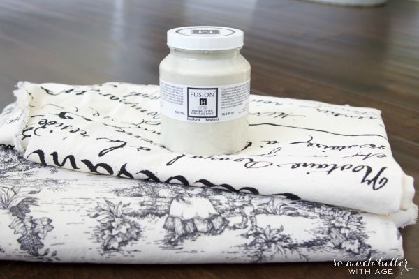 Fusion Mineral Paint and toile fabric