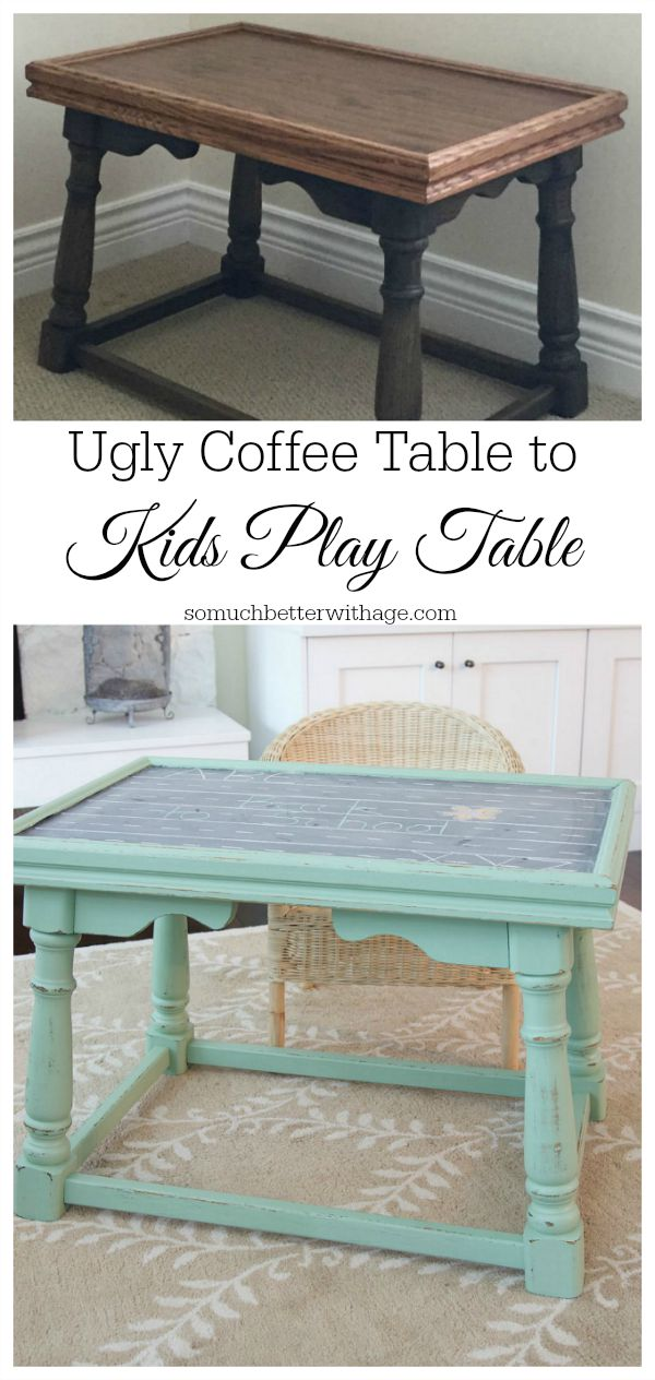 My Top 12 Most Popular Posts of 2015 / ugly coffee table to kids play table - So Much Better With Age
