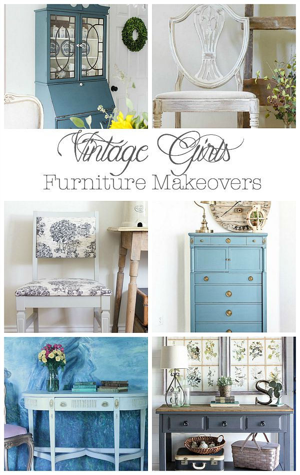 Vintage Girls Furniture Makeovers | somuchbetterwithage.com