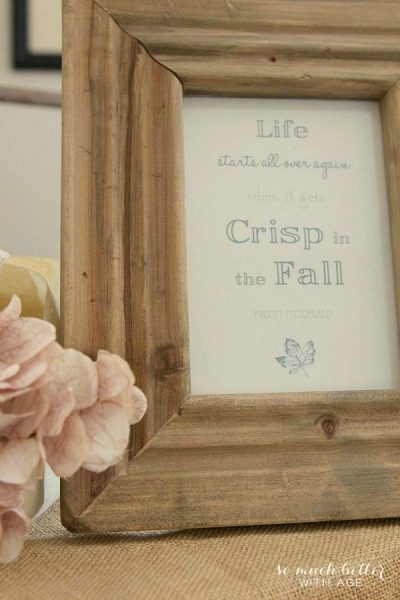 Crisp Fall Printable and Fall Vignette
