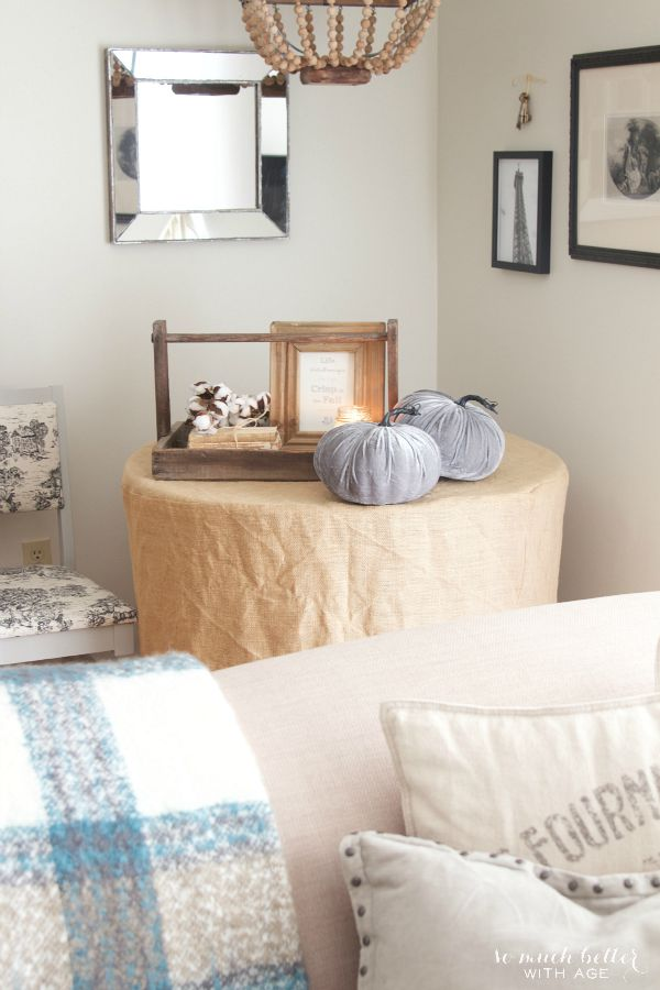 Vintage Neutral Fall Tour / velvet pumpkins - So Much Better With Age