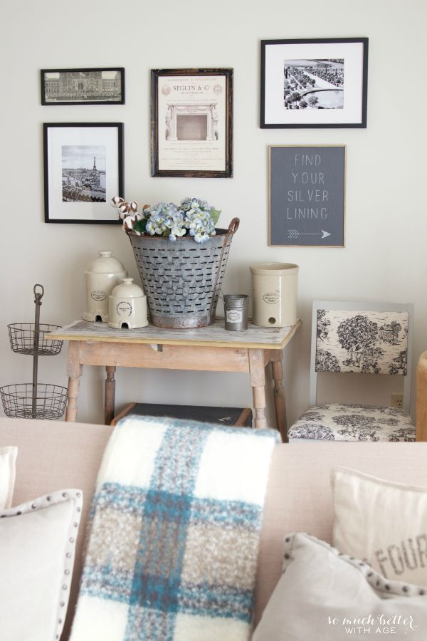Vintage Neutral Fall Tour / stunning living room accents - So Much Better With Age