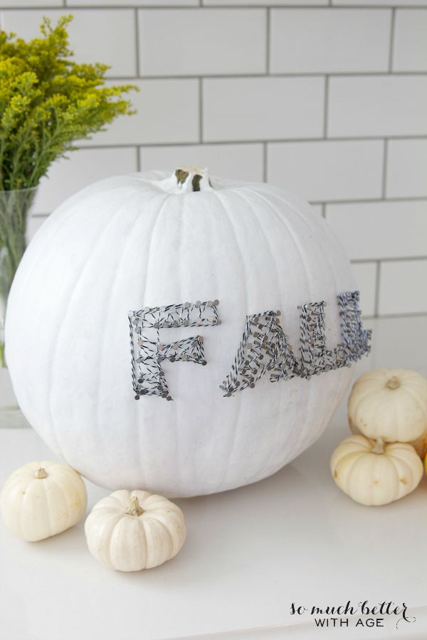 My Top 12 Most Popular Posts of 2015  / pumpkin string art - So Much Better With Age