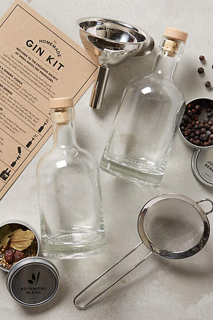 A homemade gin set from Anthropologie.