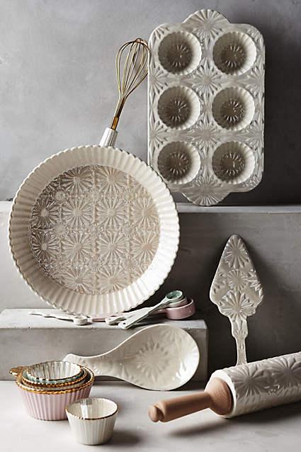 Baking pans from Anthroplogie.
