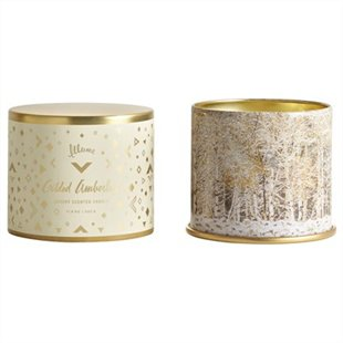 Scented candles in tins.
