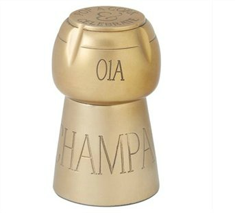 A champagne cork paperweight.