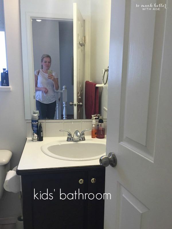 The kids bathroom.