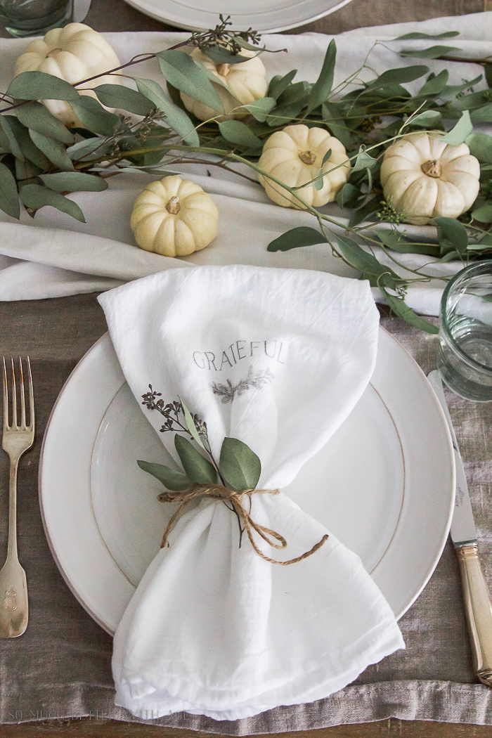Thanksgiving Napkin Transfer Tutorial So Much Better