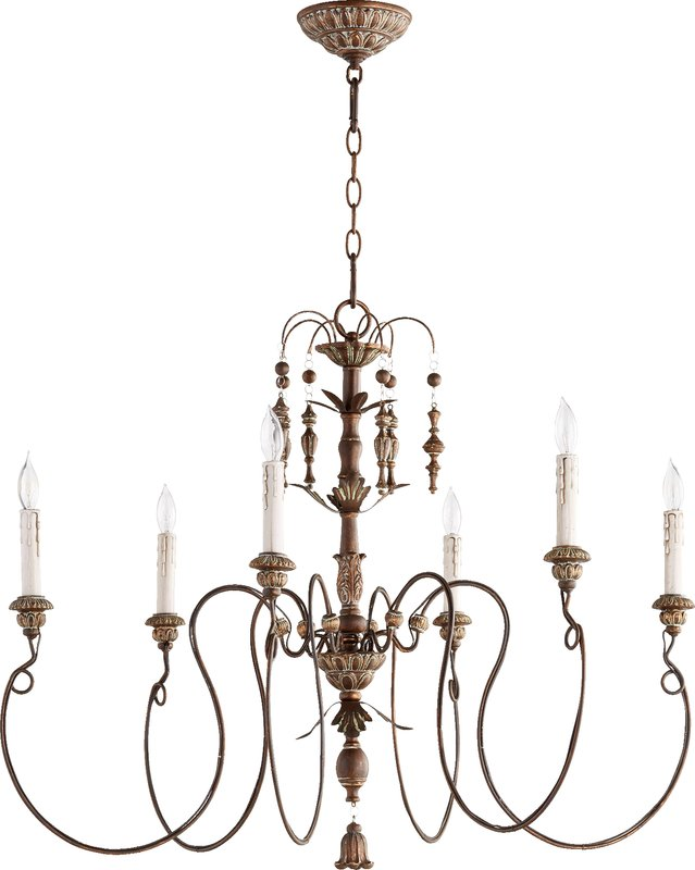 Paladino a large chandelier with gold and metal.