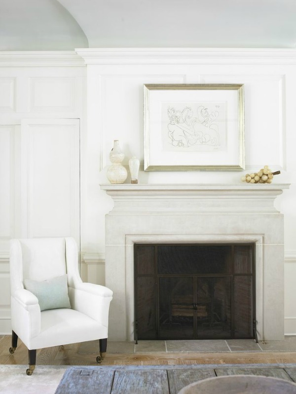 Fabulous Limestone Fireplaces  / Webb Interiors - So Much Better With Age