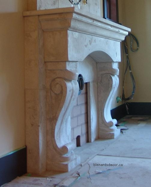 Fabulous Limestone Fireplaces / Blenards  - So Much Better With Age