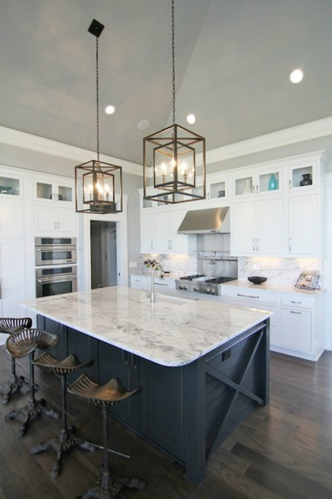 grey kitchen island with white cabinets. Kitchen Islands  Decor Pad White or Color So Much Better With Age