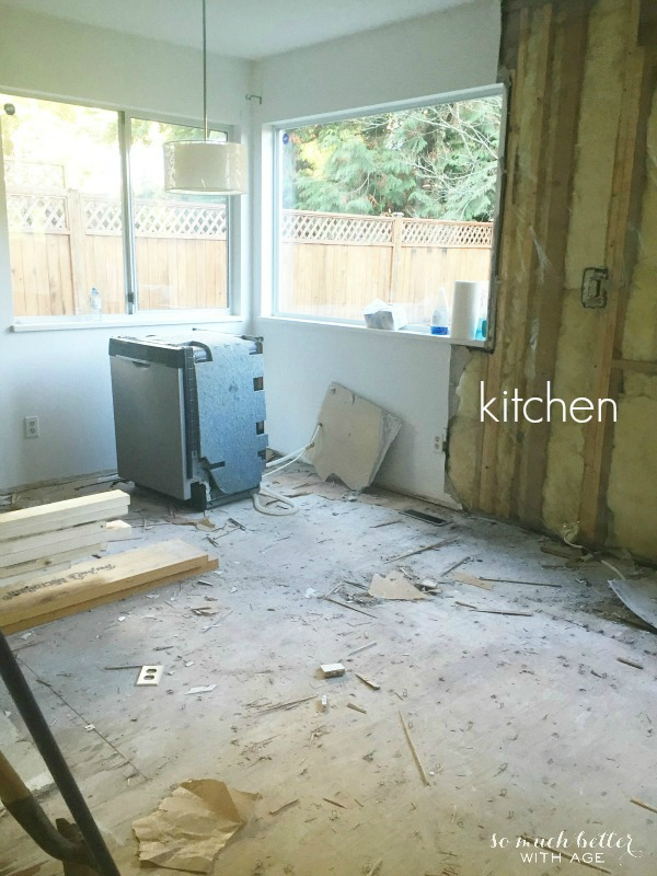 Kitchen / Demos on my new house | somuchbetterwithage.com