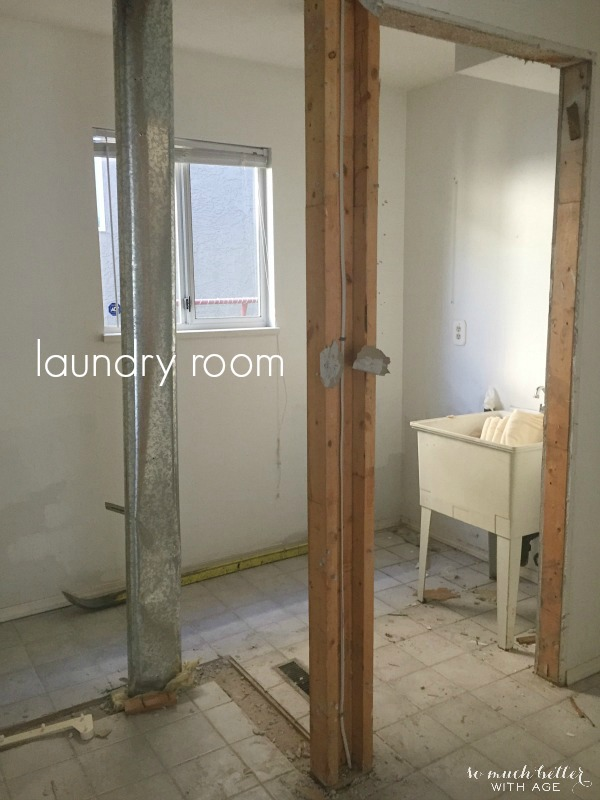 Laundry room / Demos on my new house | somuchbetterwithage.com