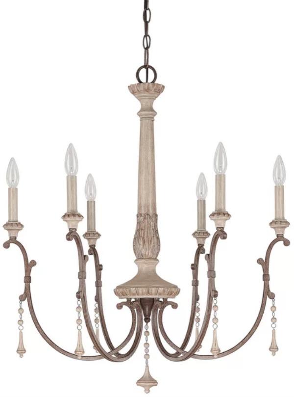 Drumboe chandelier poster.