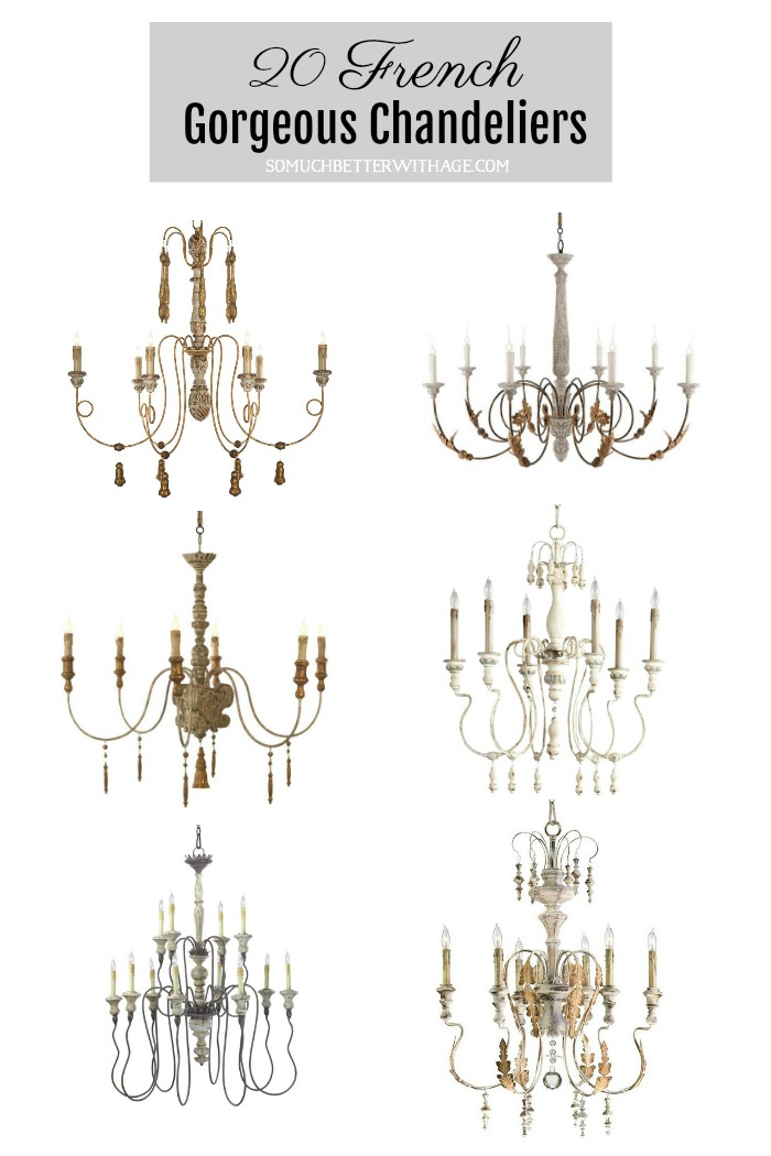 The Most Gorgeous French Chandeliers/ 20 French Gorgeous Chandeliers poster.